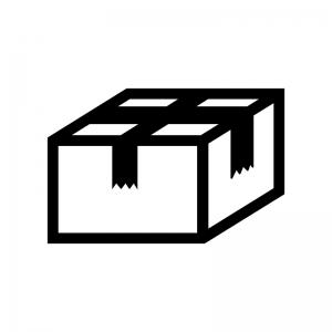段ボールの白黒シルエットイラスト素材02