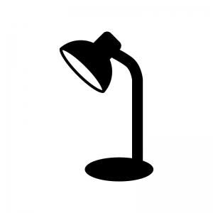 電気スタンドの白黒シルエットイラスト素材03