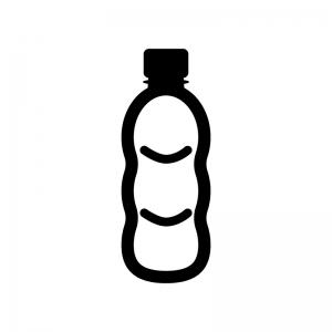 ペットボトルの白黒シルエットイラスト素材02
