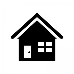 家(ホーム)の白黒シルエットイラスト素材03