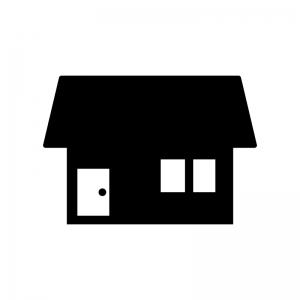 家(ホーム)の白黒シルエットイラスト素材04