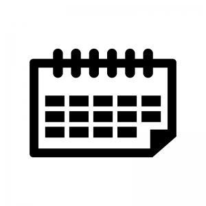 卓上カレンダーの白黒シルエットイラスト02