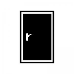 ドア・扉の白黒シルエットイラスト