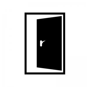 開いたドア 扉のシルエット 無料のai Png白黒シルエットイラスト
