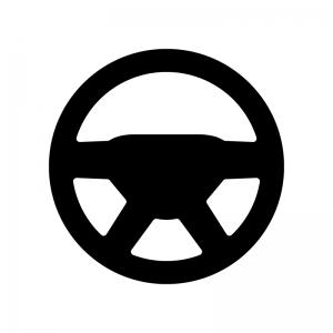 ハンドルの白黒シルエットイラスト02