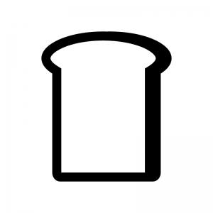 食パンの白黒シルエットイラスト