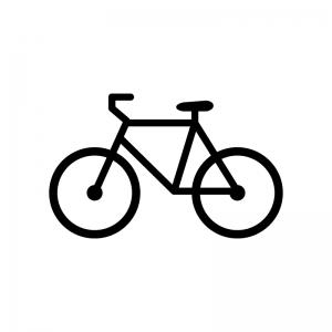 自転車の白黒シルエットイラスト
