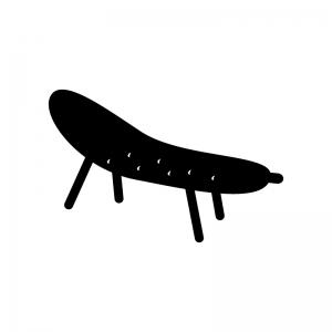 キュウリの精霊馬の白黒シルエットイラスト