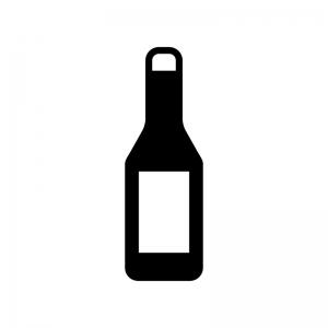 瓶の白黒シルエット