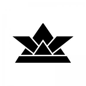 5月の紙兜の白黒シルエットイラスト02