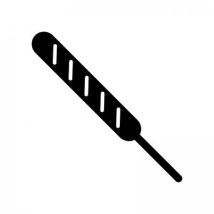 フランクフルトの白黒シルエットイラスト