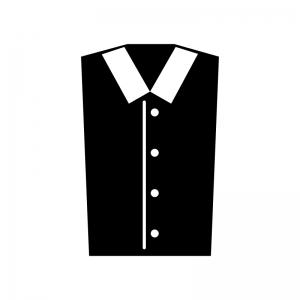 Yシャツの白黒シルエットイラスト