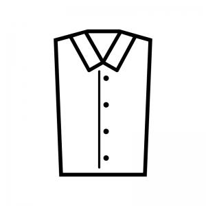 Yシャツの白黒シルエットイラスト02