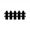 柵の白黒シルエットイラスト