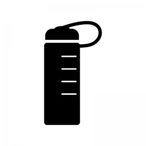 水筒・ボトルの白黒シルエットイラスト