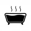 お風呂の白黒シルエットイラスト