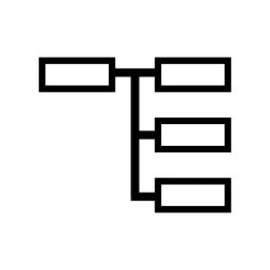 サイトマップの白黒シルエットイラスト
