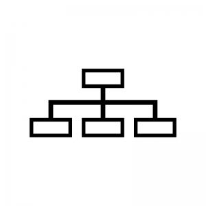 サイトマップの白黒シルエットイラスト02