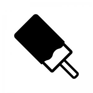 チョコバーの白黒シルエットイラスト