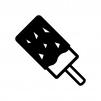 ナッツチョコバーの白黒シルエットイラスト