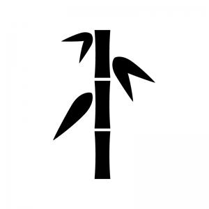 竹の白黒シルエットイラスト
