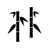 竹林の白黒シルエットイラスト