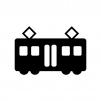 電車の白黒シルエットイラスト
