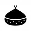 栗の白黒シルエットイラスト02