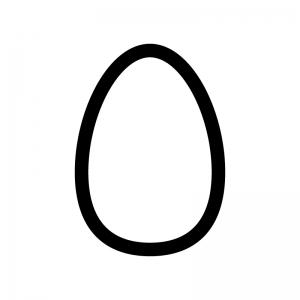 卵の白黒シルエットイラスト