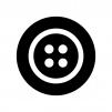 ボタンの白黒シルエットイラスト02