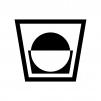 丸氷のウイスキーの白黒シルエットイラスト