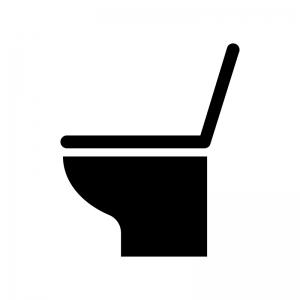 トイレの白黒シルエットイラスト