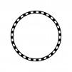 環状線の白黒シルエットイラスト