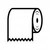 トイレットペーパーの白黒シルエットイラスト02