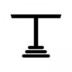 テーブルの白黒シルエットイラスト