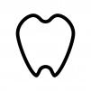 歯の白黒シルエットイラスト