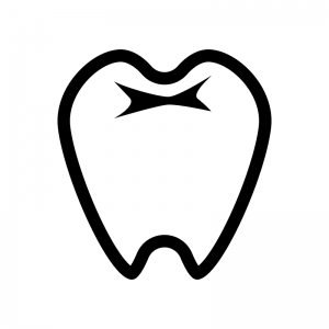 歯の白黒シルエットイラスト02