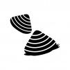あさり貝の白黒シルエットイラスト02