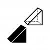 三角柱の白黒シルエットイラスト