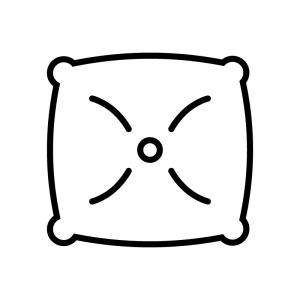 クッションの白黒シルエットイラスト