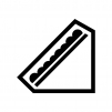 サンドイッチ(レタスサンド)の白黒シルエットイラスト