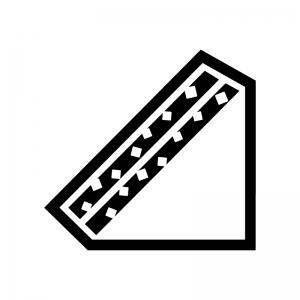 サンドイッチ(たまごサンド)の白黒シルエットイラスト