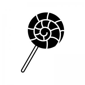 キャンディの白黒シルエットイラスト02