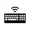 ワイヤレスキーボードの白黒シルエットイラスト