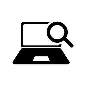 パソコン内を検索の白黒シルエット