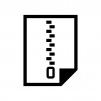 圧縮・ZIPファイルの白黒シルエットイラスト