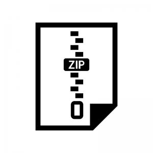 圧縮・ZIPファイルのシルエットイラスト02