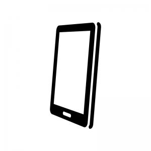 斜めから見たスマホのシルエット 無料のaipng白黒シルエットイラスト