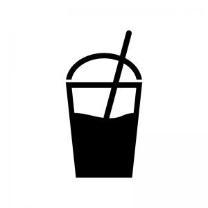 テイクアウトドリンクのシルエット 無料のaipng白黒シルエットイラスト