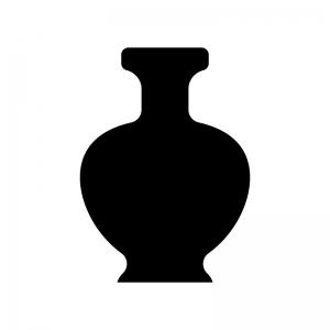 壺・骨董品の白黒シルエットイラスト